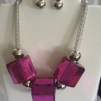 Octagon Necklace Set - more colors