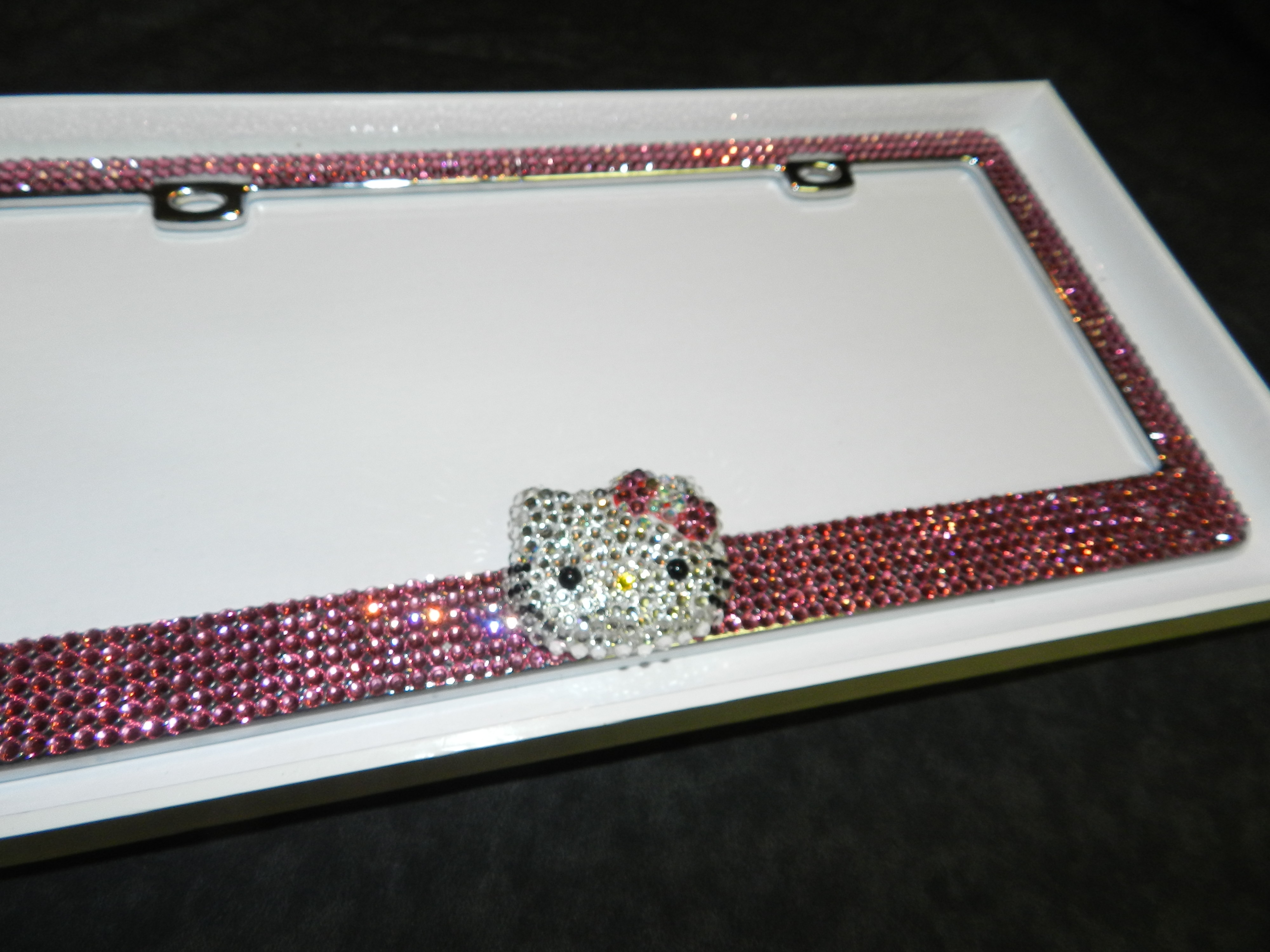 Bling Luxury. Metal License Plate Frames, Crystallized, Real ...