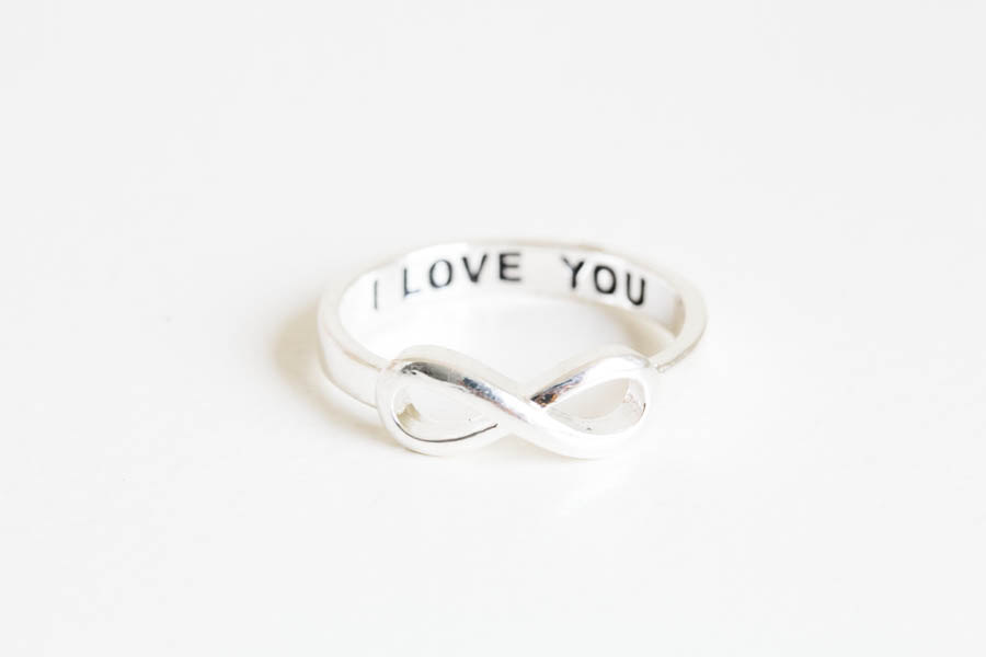 I love you infinity ring,love ring,couple ring,i love you,wedding ...