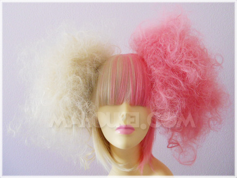 """Cotton Candy"" Two-Tone Split Pink / Blonde Sweet Lolita Wig Set"