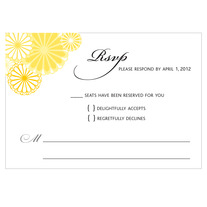 printable wedding response card | kiku