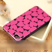 iphone 4G Design #541, New Marc By Marc Jacobs All Pink Hearts iPhone 4/4S Case