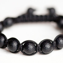 Matte Black Faceted