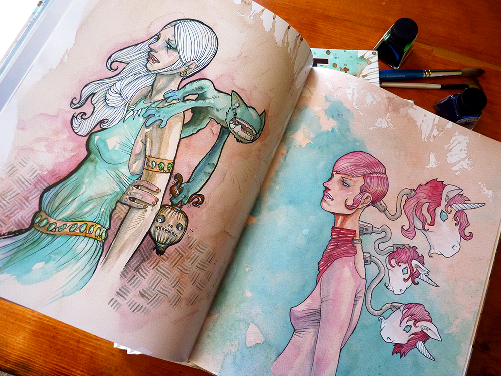 coffee creatures art book the coffee and watercolor paintings of cody vrosh thumbnail 2 - Painting Color Book