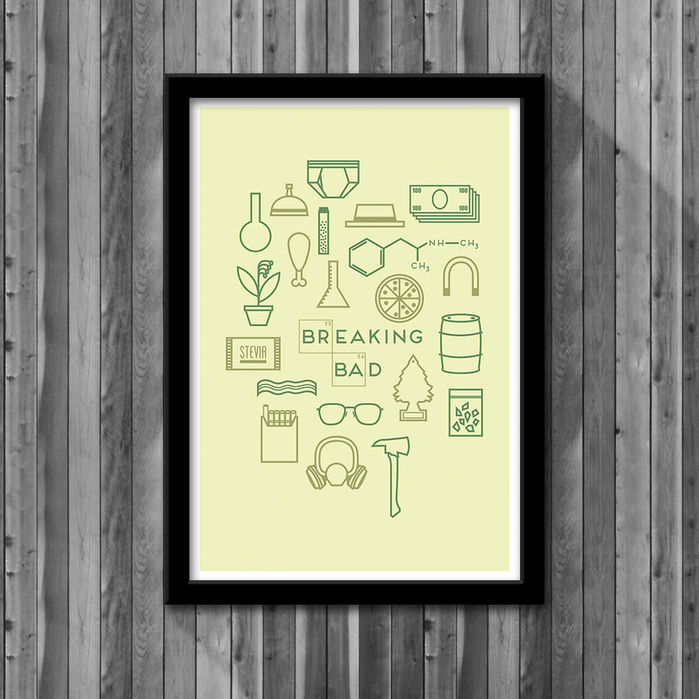 Breaking bad poster little pixel shop online store powered by breaking bad poster jeuxipadfo Choice Image