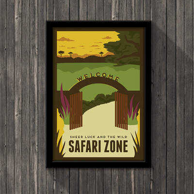 Pokemon travel poster - safari zone