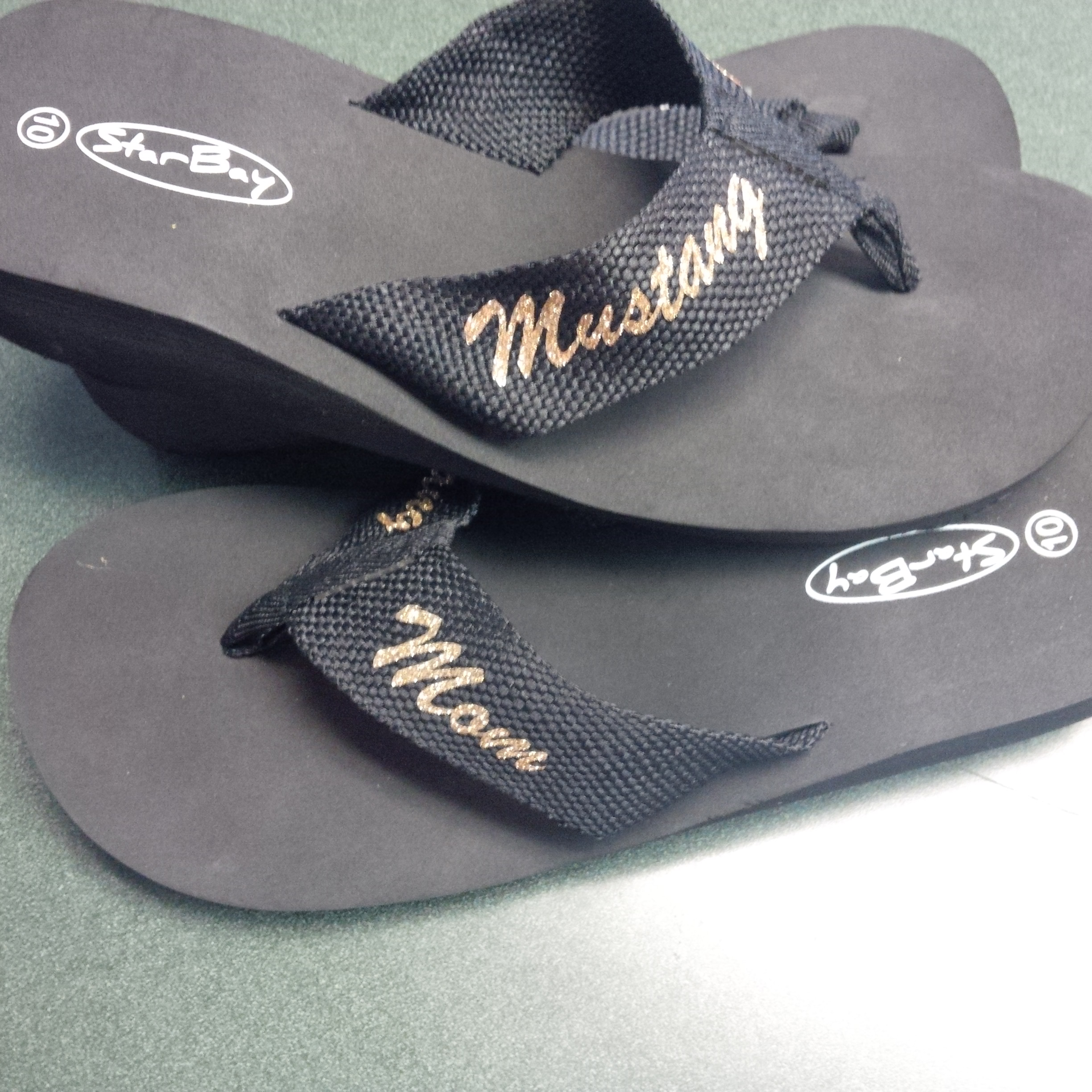 a08bae048 MHS Glitter Flip Flops · One Stop T-Shirts and More · Online Store ...