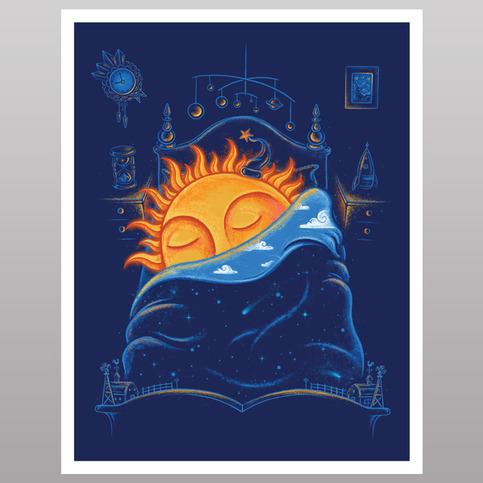 Goodnight, Sun. (print)