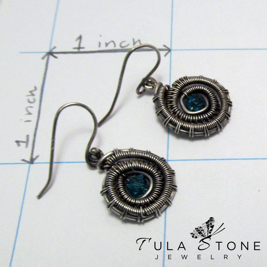 Sterling Woven Ammonite Earrings 183 Tula Stone Jewelry