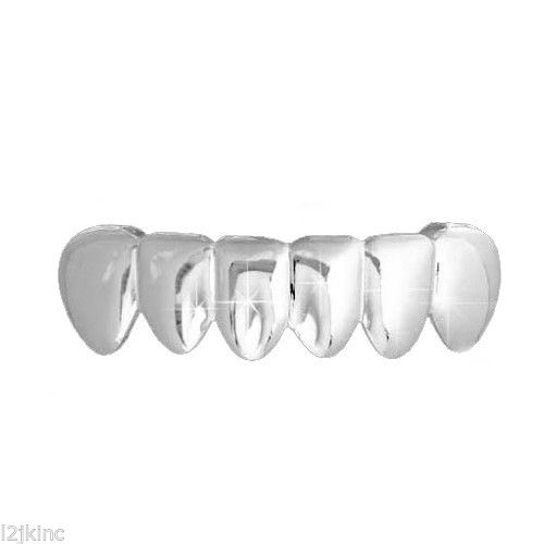 Silver Top Grillz Silver Plain Top And Bottom