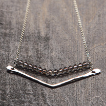 Chevron Crystal Necklace