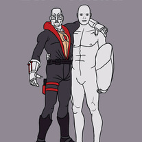 Silver Surfer and Destro are best friends, 5x7 print