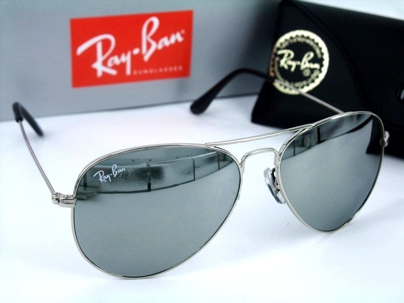 ray ban aviator mirror sunglasses silver