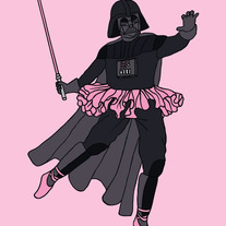 Darth Vader doing Ballet, 5x7 print