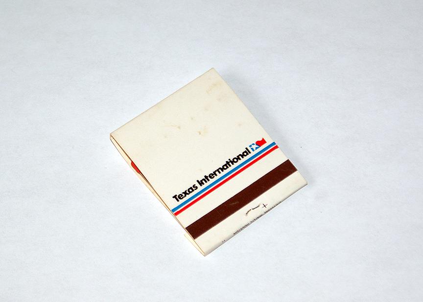 Gate 72   Vintage Texas International Airlines Matchbook/Matches ...