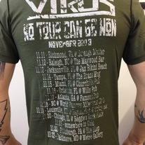 SOLD OUT - The Virus 2013 limited tour shirt - Constant War on green medium photo