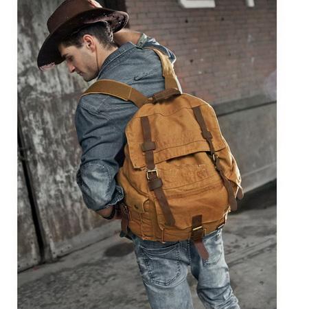 Awesome road trip large backpacks pack for men · Vintage rugged ...