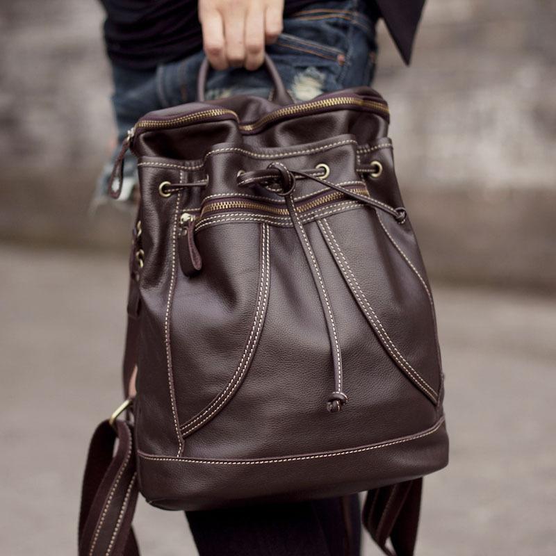 Handmade Leather Women's Backpack / Day Pack / Satchel / Travel ...
