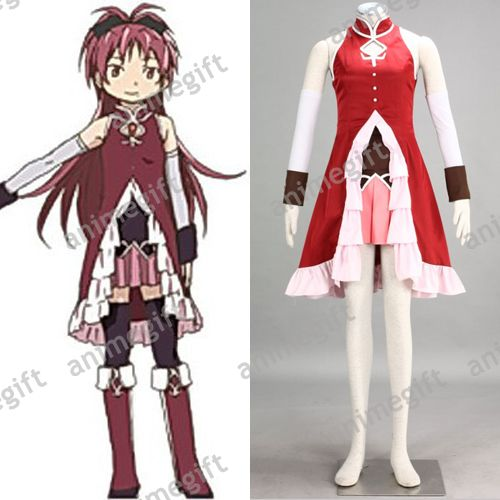 Sakura Christmas Party.Puella Magi Madoka Magica Anime Sakura Kyoko Cosplay Costume For Halloween Christmas Party Cloth Free Shipping Sold By Animegift