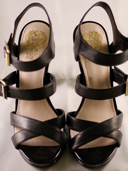 Vince Camuto Black Leather Strappy