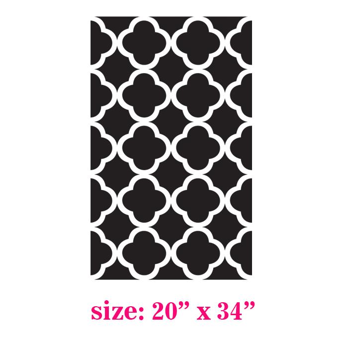 Pattern Stencil for Walls Decor better than Vinyl - Thumbnail 1Quatrefoil Pattern Stencil