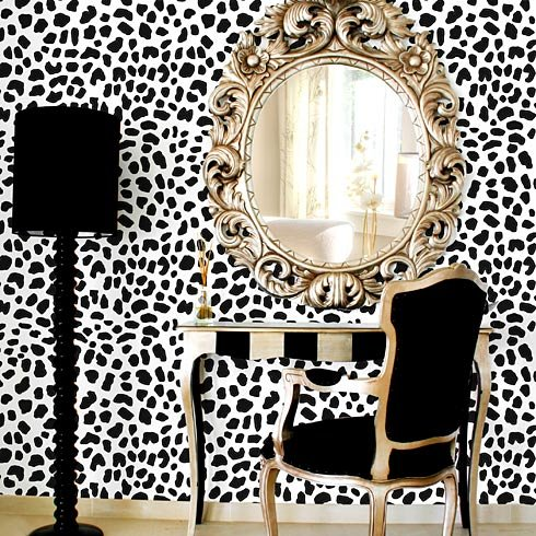 Leopard Skin Allover Stencil - Large Scale - Reusable wall stencils ...