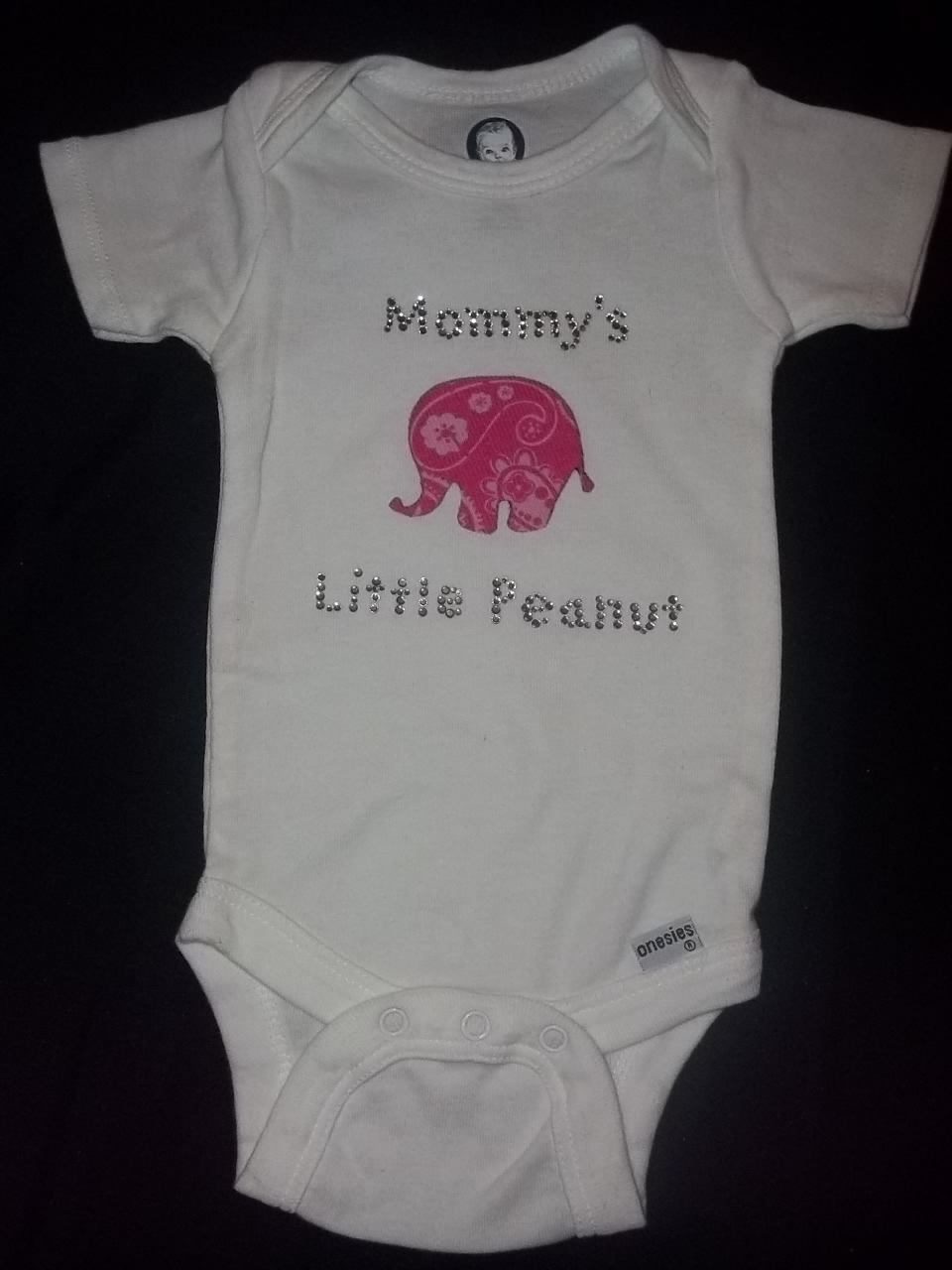 e43423bf48ac Pink elephant onesie (mommy s little peanut) on Storenvy
