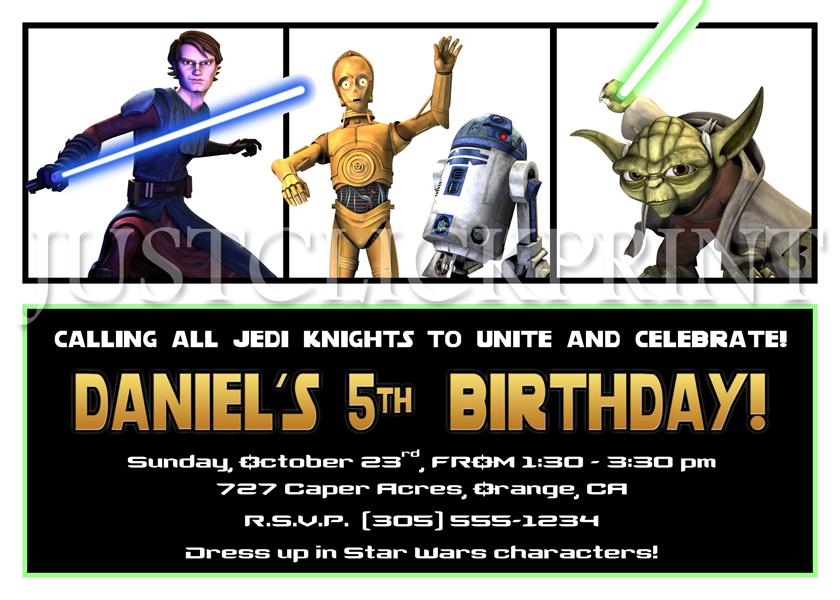 Star Wars Clone Birthday Invitation Printable