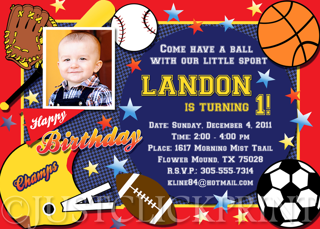 97b099dd801ec All Star Sports Birthday Party Photo Invitation Printable from Just Click  Print