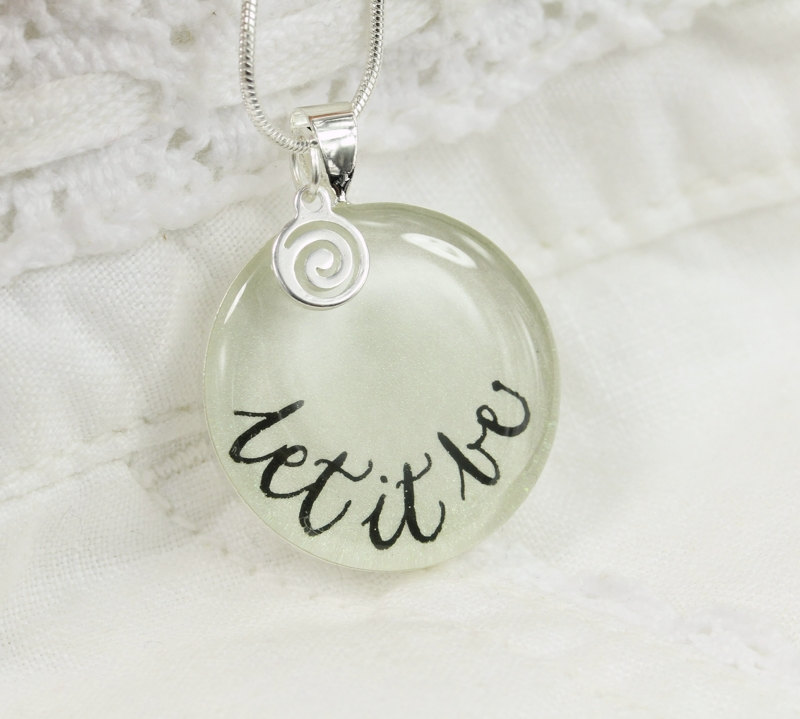Let It Be Quote Necklace The Beatles Inspired Pendant