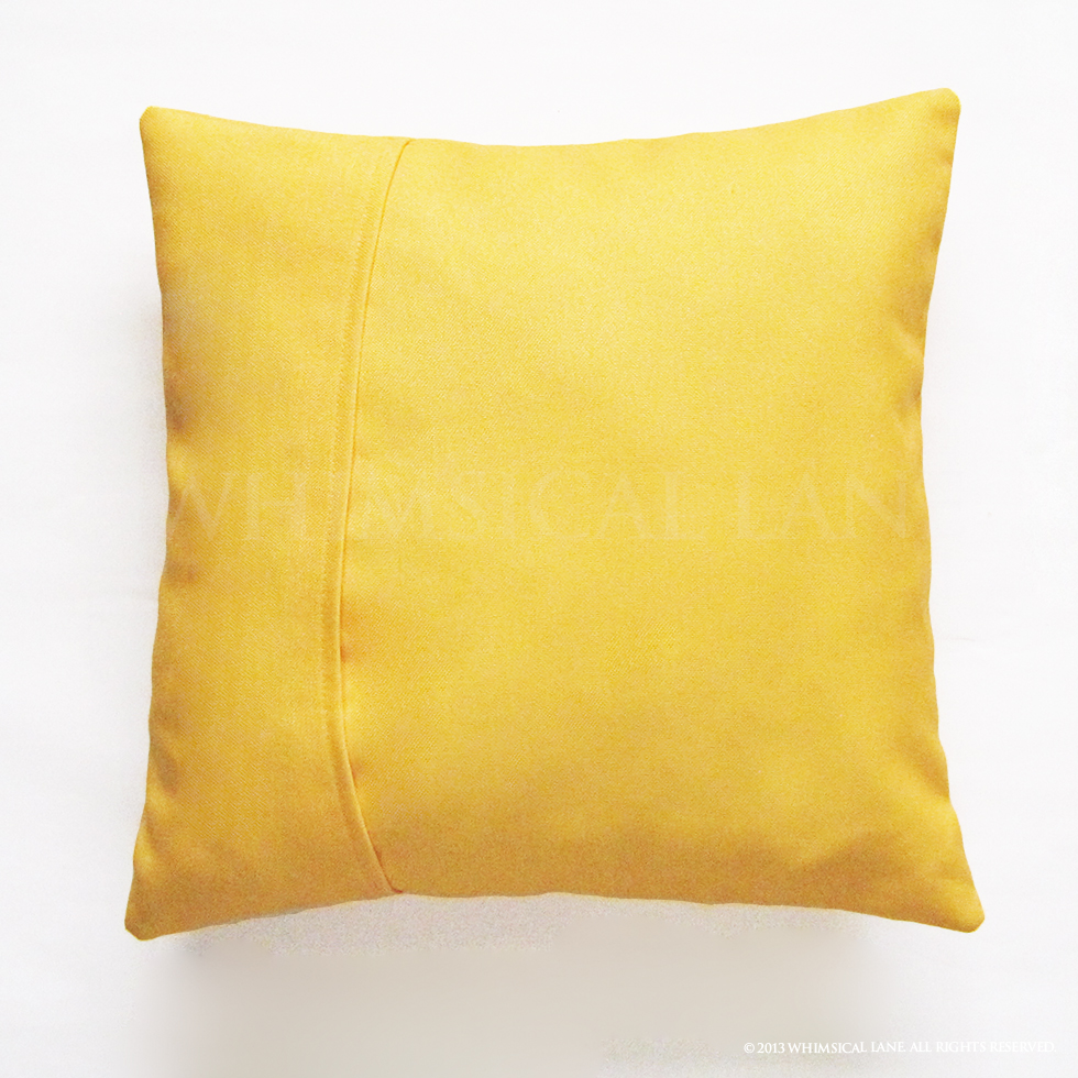 Bright Yellow Joy Pillow Cover 16 X 16 On Storenvy