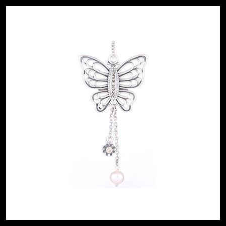 "6d05707d3 AUTHENTIC PANDORA ""Love Takes Flight"" .925 Sterling Silver  Butterfly Pendant - Item"