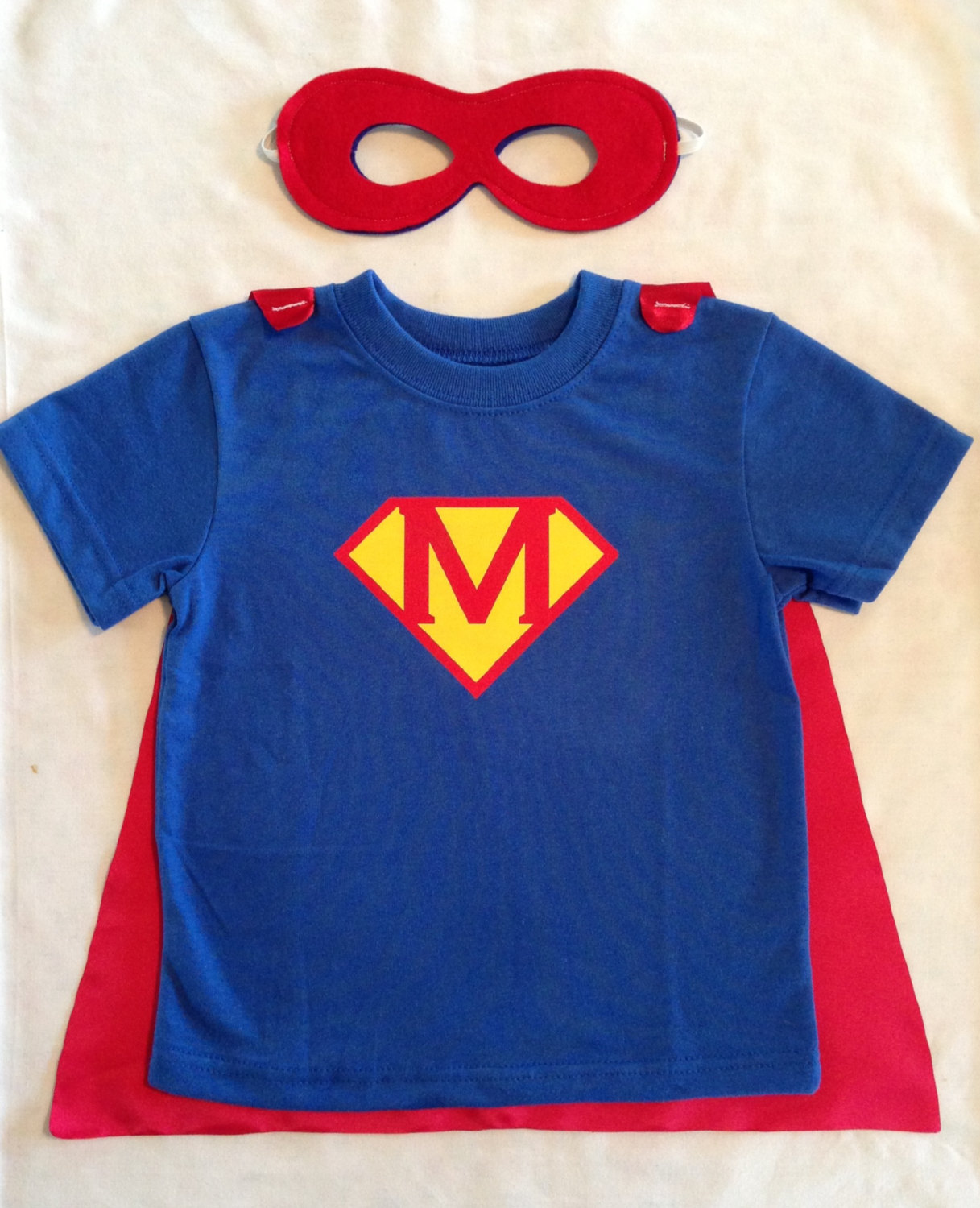 4639f12ad Personalized Superman T-Shirt with Detachable Satin Cape and Reversible  Mask, Children and Toddler