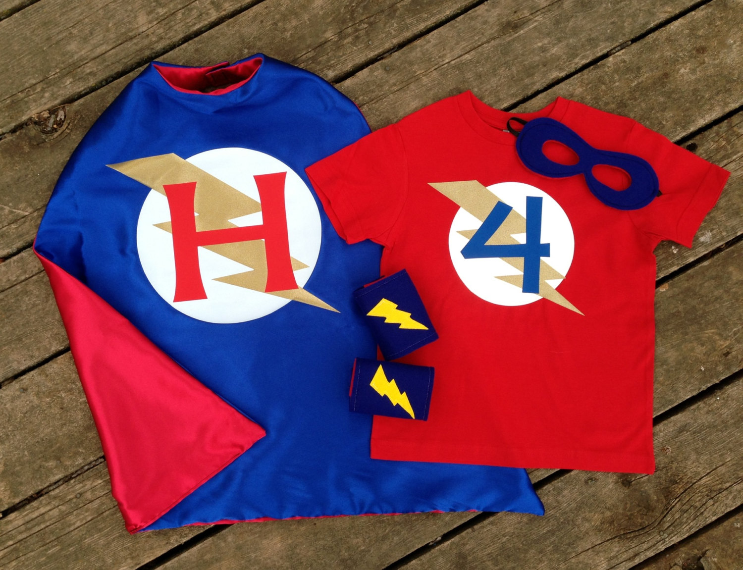 Personalized Superhero Cape T Shirt Mask And Power Cuffs Ultimate Custom Super