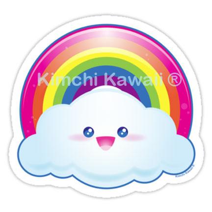 Kawaii candy rainbow vinyl sticker