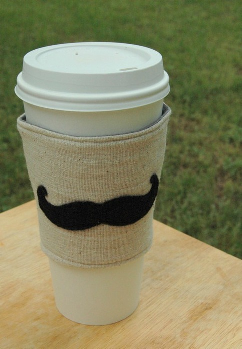 Coffee Cozy ~ Mustache Mania