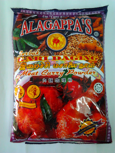 Meat Fish Curry Powder Alagappa S 250 G Malaysian