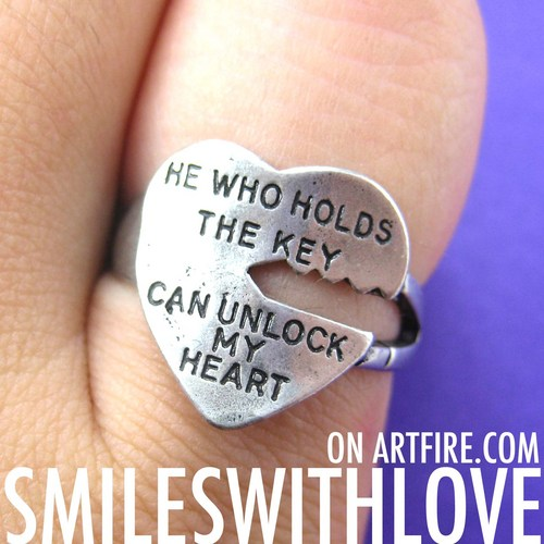 Love Quote Key Ring Silver - He Who Holds The Key Can Unlock ...