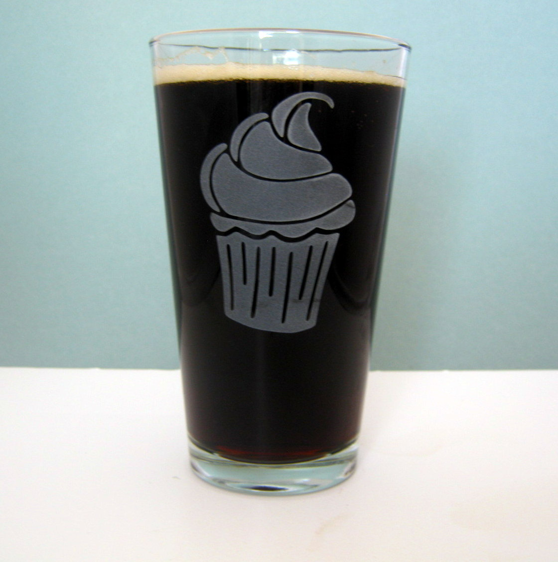 Cupcake A Sweet Etched Pint Glass On Storenvy