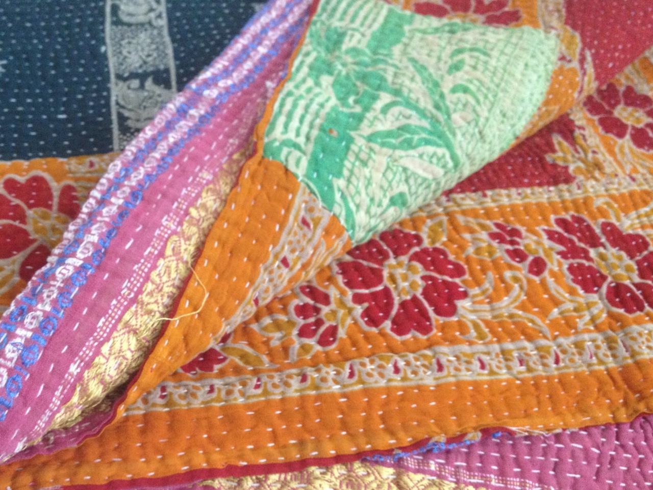 Reversible Vintage Kantha Quilts Throw From India On Storenvy