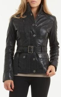 b17485e754 Women black belted leather jacket, women biker leather jacket, REAL leather  jacket