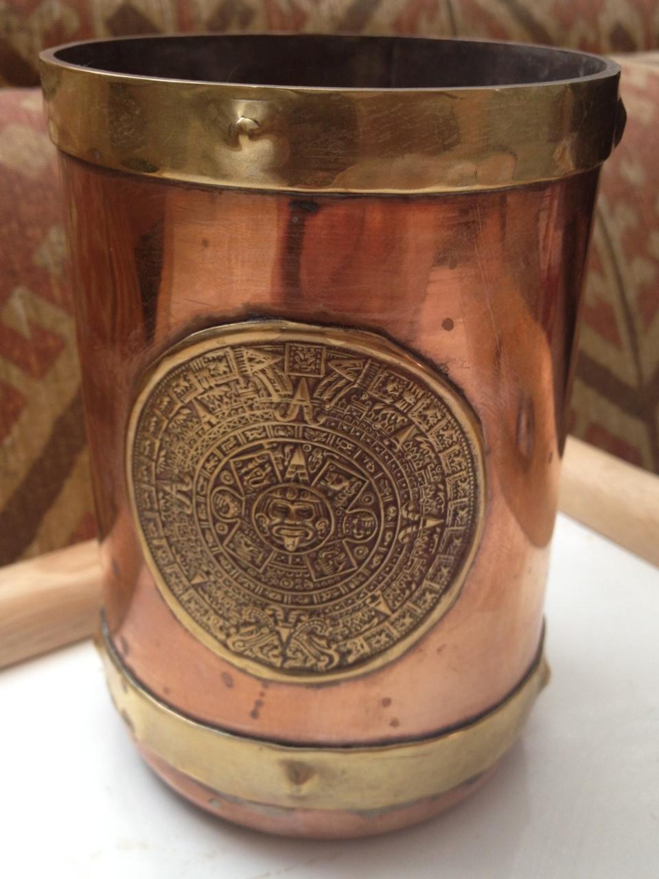 Vintage Copper And Brass Aztec Calendar Mug On Storenvy