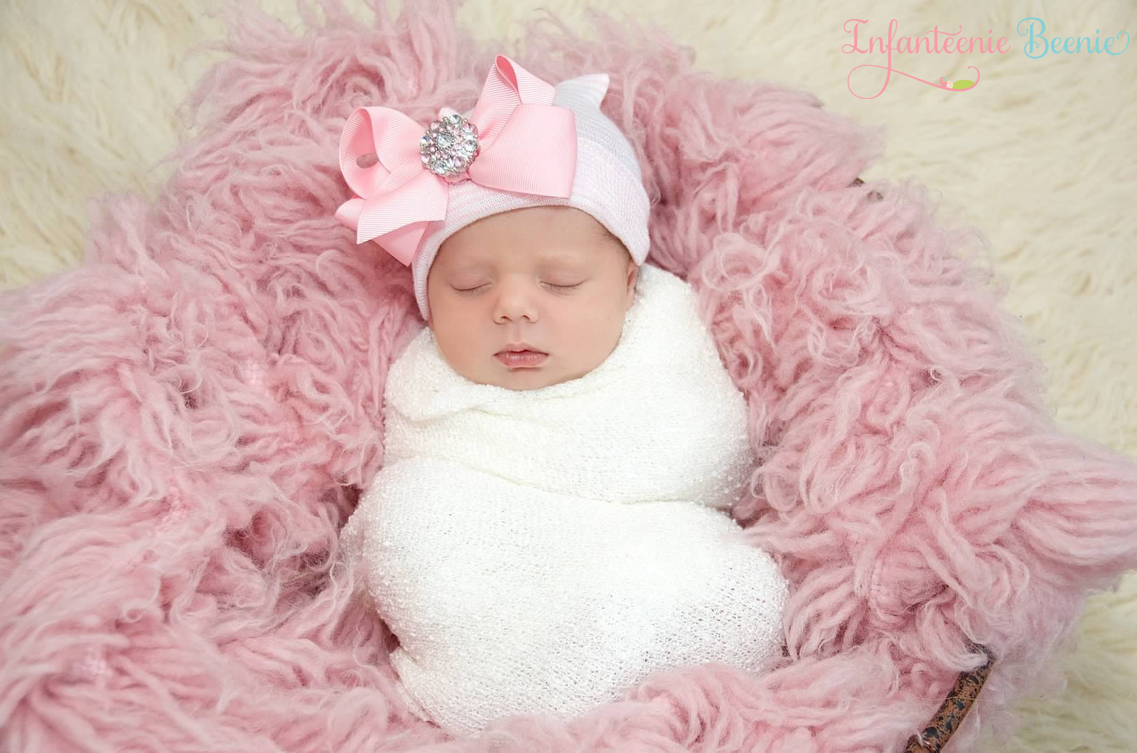 Her First Bling Bow- Newborn Girl Hospital Hat- Newborn Girl Hat- Newborn  Girl ... 01420f235580