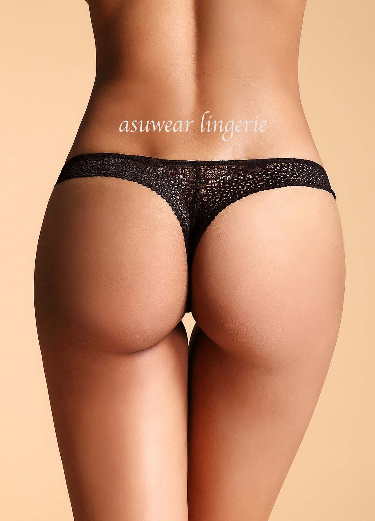 Low Rise Lace Thong At