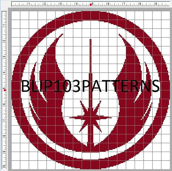 Star Wars Jedi Order Symbol Cross Stitch Pattern On Storenvy