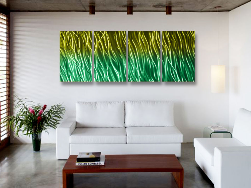 Contemporary Wall Art Decor: Reef- Abstract Metal Wall Art Contemporary Modern Decor