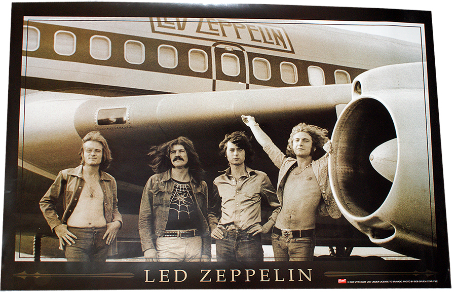 Led Zeppelin The Starship Boeing 707 N7201u Poster 36 X