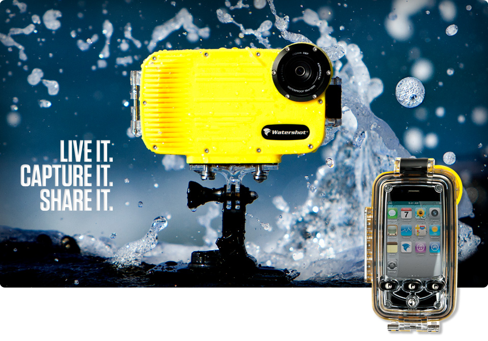 new concept 4dc1b 7c4dc Watershot Iphone 4 and 5 waterproof housing 130ft depth rated