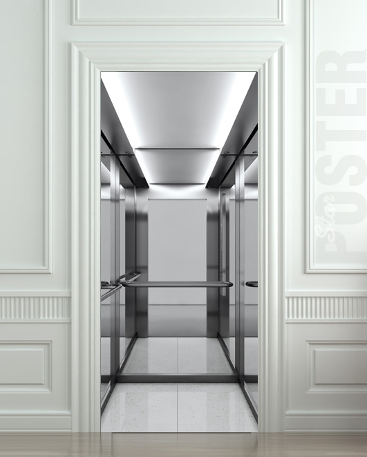 Giant Door Sticker Lift Elevator Decole Film Poster 30x79