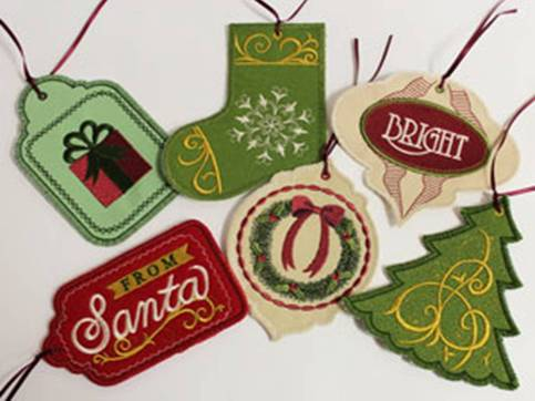 Embroidered Gift Tags on Storenvy